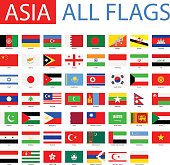 Flags of Asia - Full Vector Collection