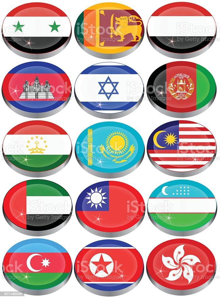 Flaggen von Asien  Lizenzfreies flaggen von asien stock vektor art und mehr bilder von afghanistan