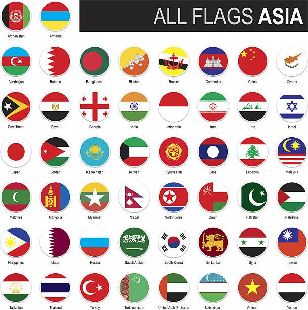 flags of asia - kasachstan stock-grafiken, -clipart, -cartoons und -symbole