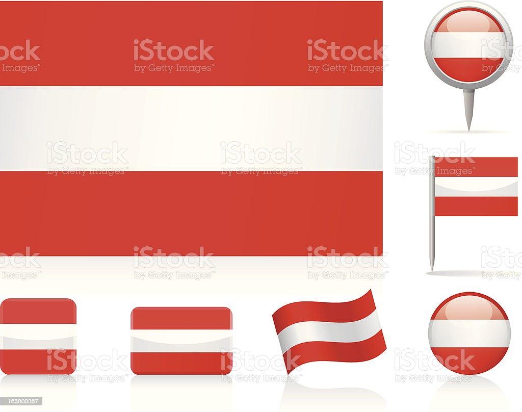 Flags of Austria - icon set royalty-free stock vector art