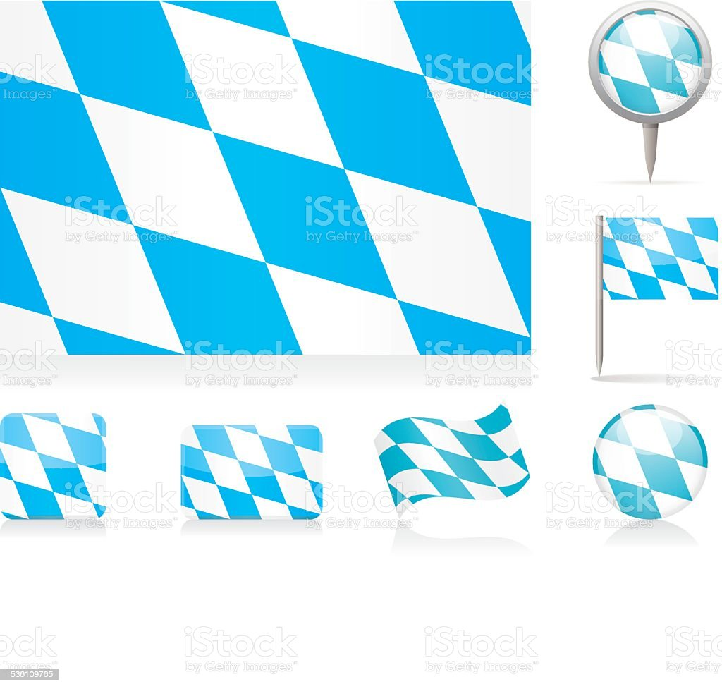Flaggen von Bayern-icon-set – Vektorgrafik