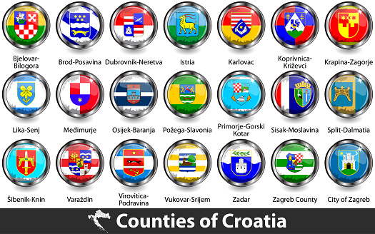 Flags of counties of Croatia