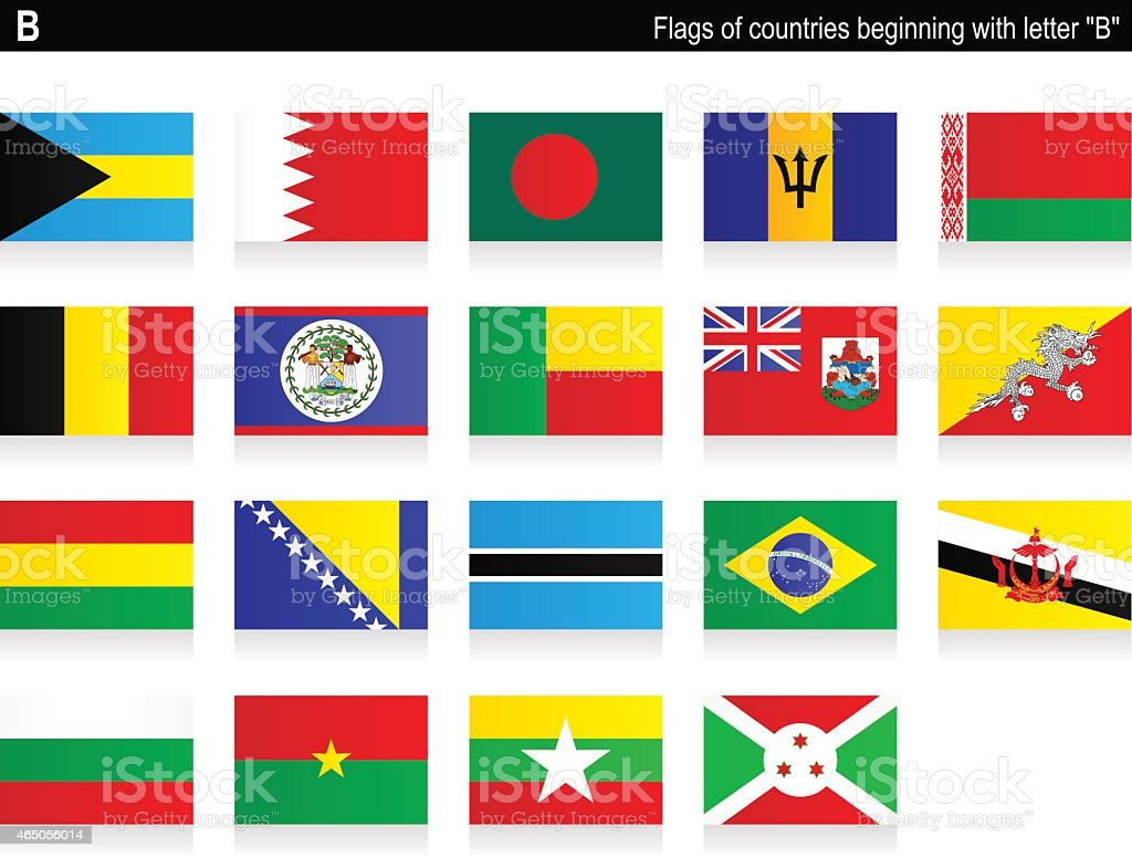Flags of countries - 'B' vector art illustration