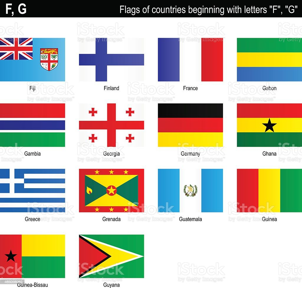 Letter Countries And Their Flags