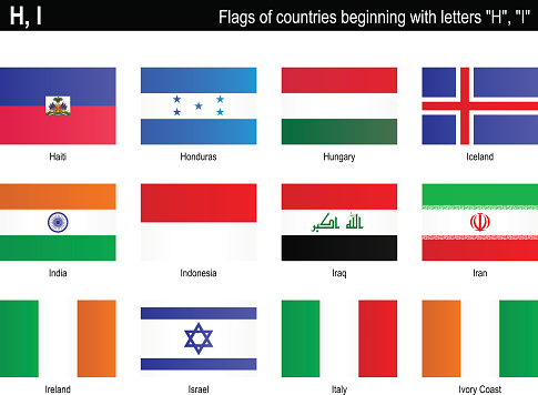 """Flags of countries - """"H"""", """"I"""""""