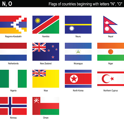 """Flags of countries - """"N"""", """"O"""""""