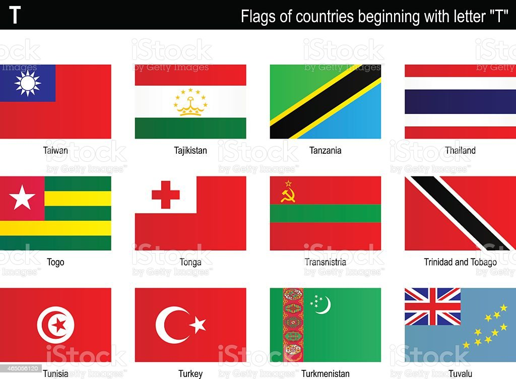 Flags Of Countries T Stock Vector Art Amp More Images Of