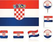 Flags of Croatia - icon set