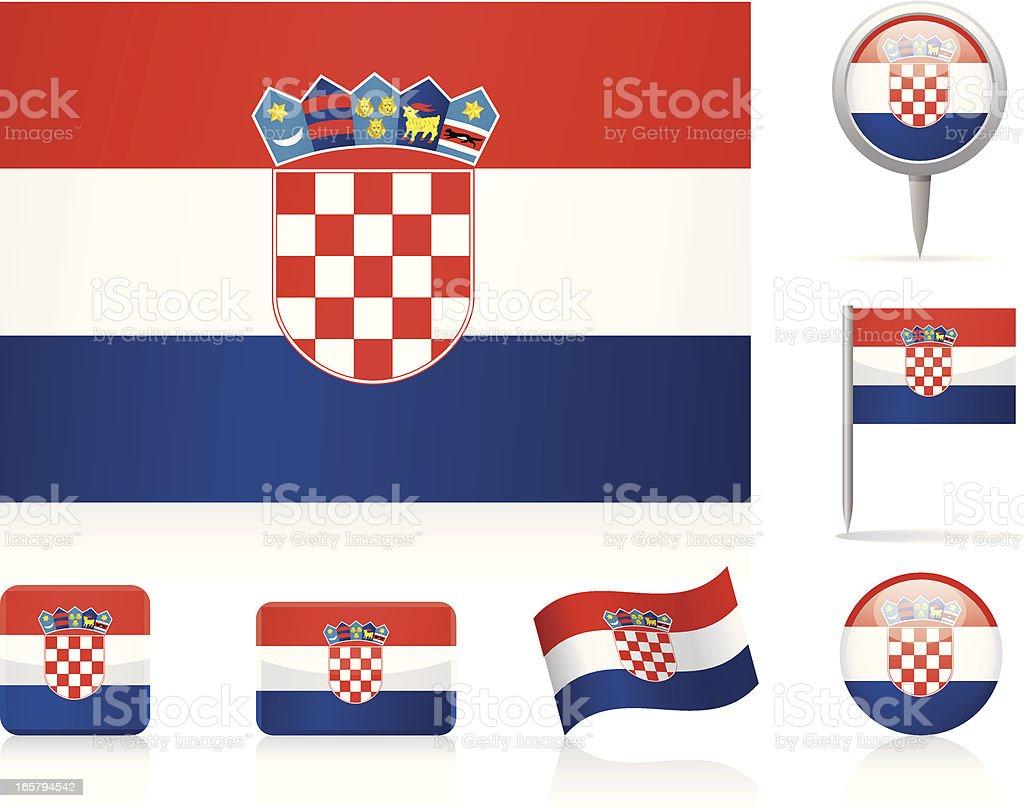 Bandera de croacia-icono de - ilustración de arte vectorial