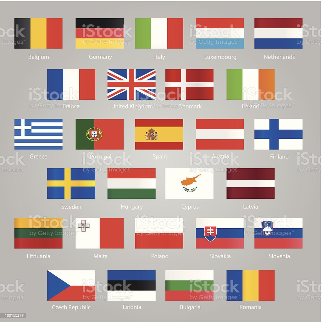 Flags of EU countries royalty-free stock vector art
