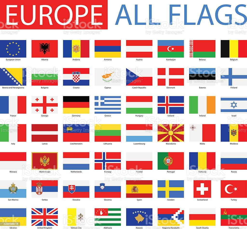 Flags of Europe - Full Vector Collection vector art illustration