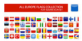 Flags of Europe - Full Vector Pack - Vector. All flags are organized by layers with each flag on a single layer properly named.
