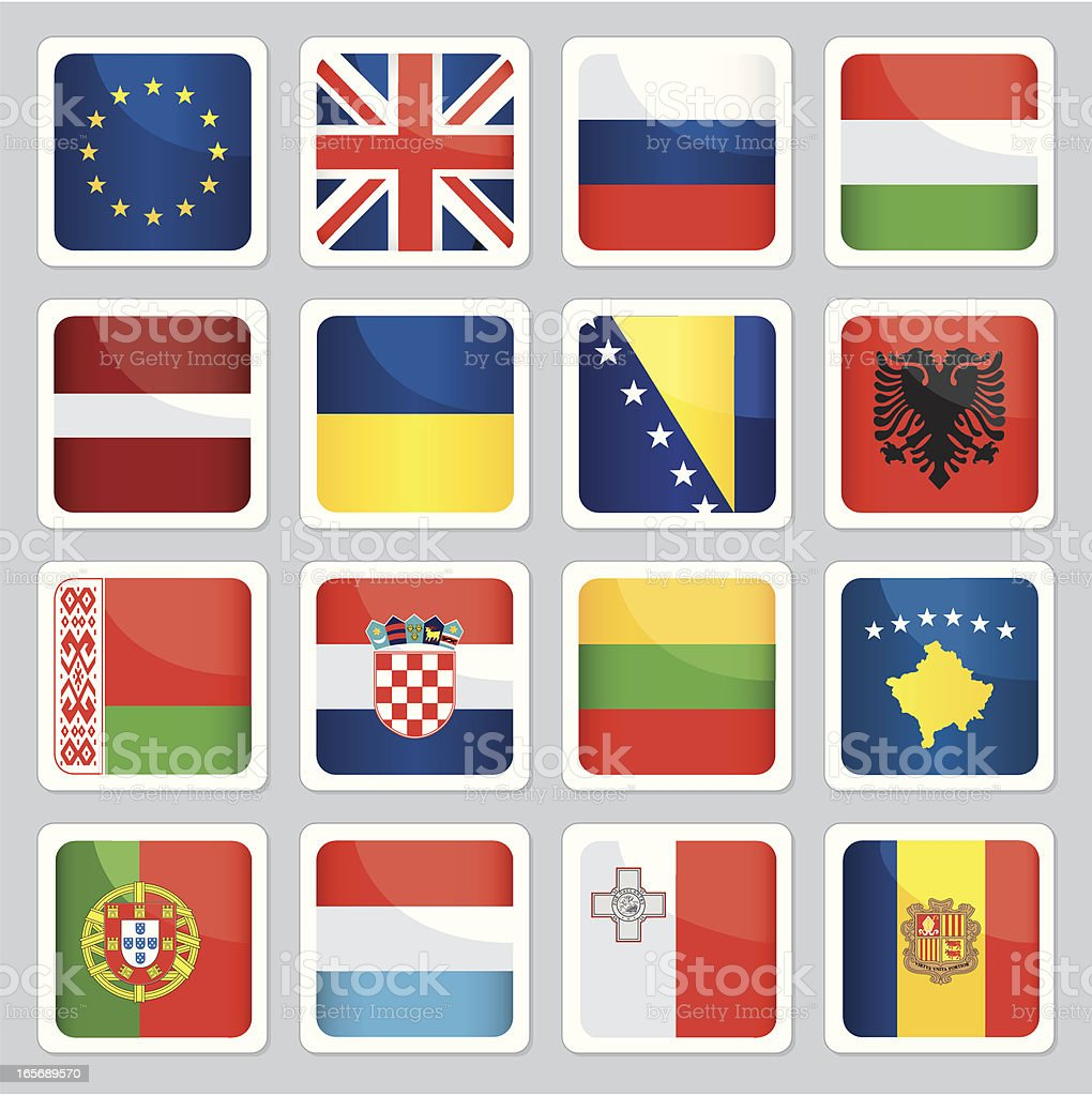 Flags of europe royalty-free stock vector art