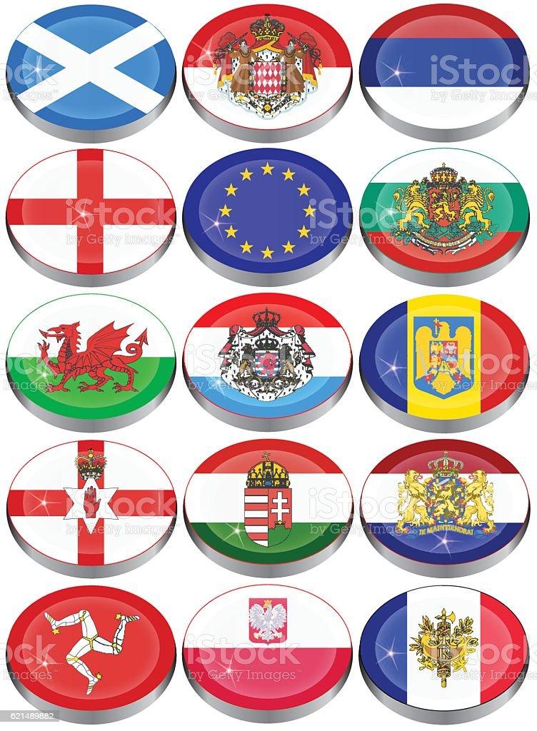 Flaggen von Europa Lizenzfreies flaggen von europa stock vektor art und mehr bilder von bulgarien