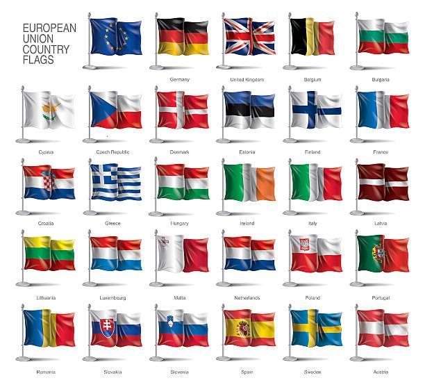 ilustraciones, imágenes clip art, dibujos animados e iconos de stock de banderas de europa - bandera irlandesa