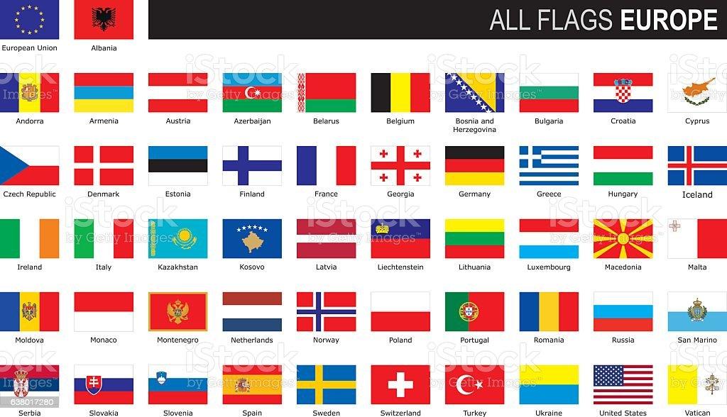 Wonderbaar Flags Of Europe Stockvectorkunst en meer beelden van Alle vlaggen DI-93