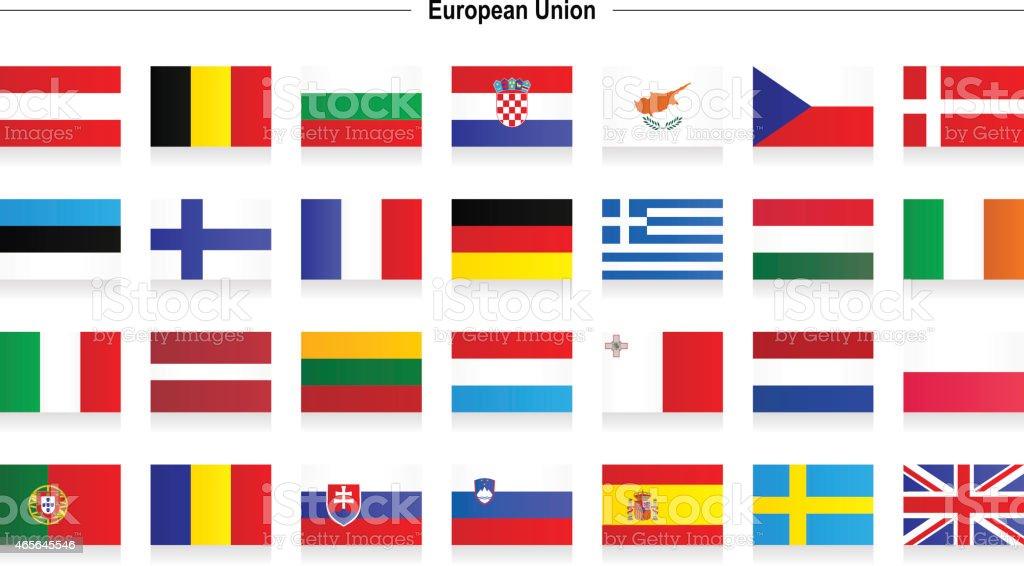 Flags of European Union Flags of European Union Austria stock vector