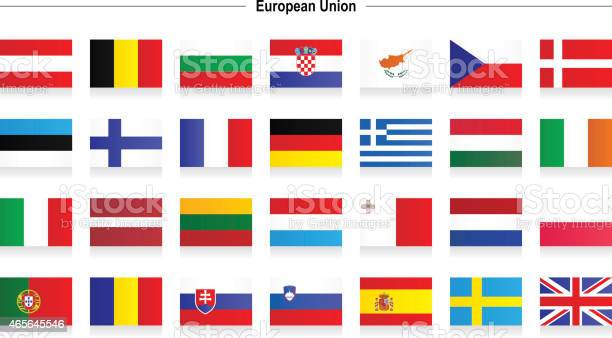 Flags Of European Union Stock Illustration - Download Image Now