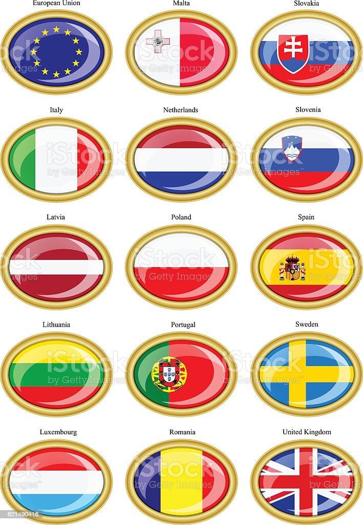Flaggen der Europäischen Union Lizenzfreies flaggen der europäischen union stock vektor art und mehr bilder von britische flagge