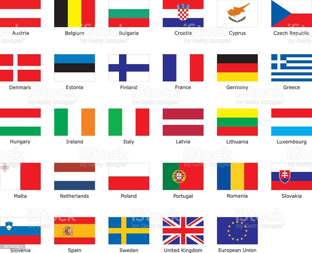 Flagi Unii Europejskiej - Stockowe grafiki wektorowe i więcej ...