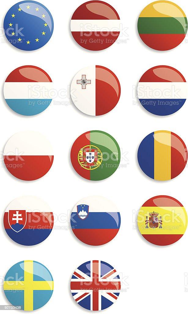Banderas de la Unión Europea. - ilustración de arte vectorial