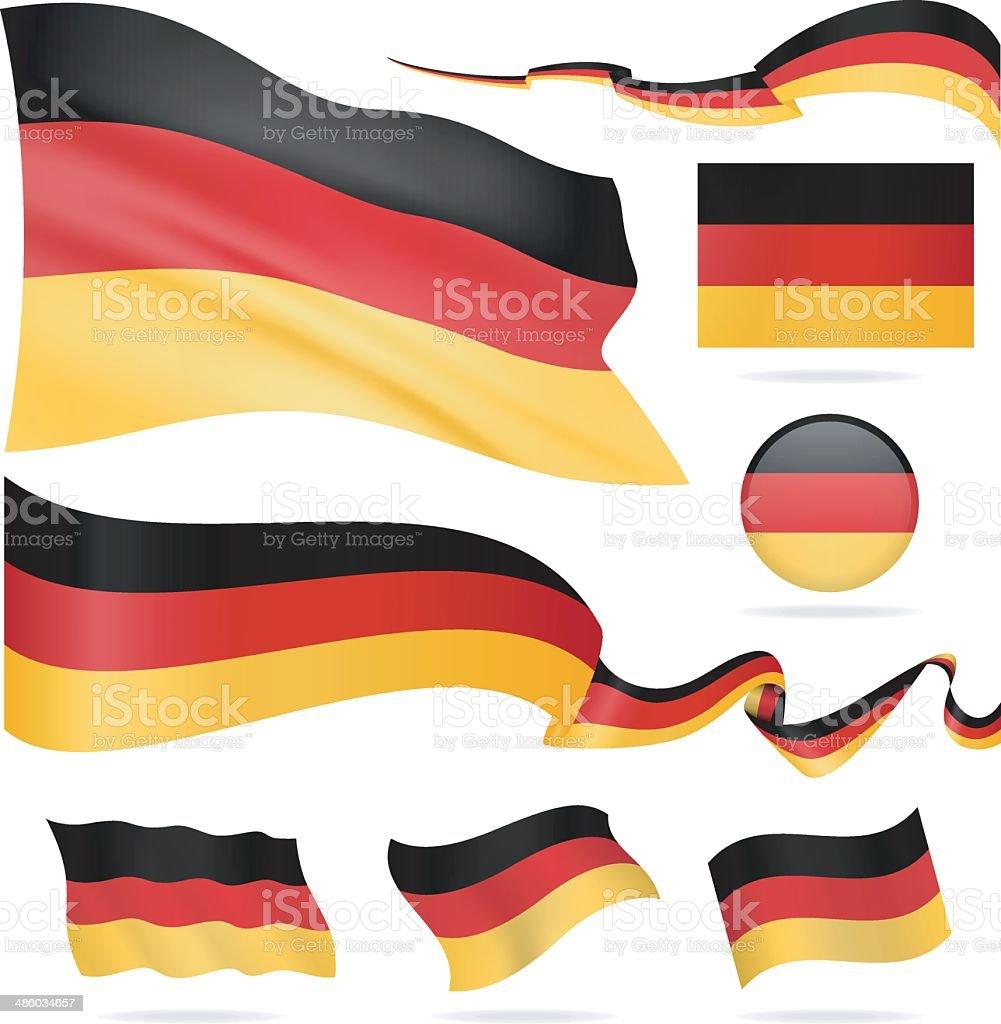 Banderas de Alemania-icono conjunto-Ilustración - ilustración de arte vectorial