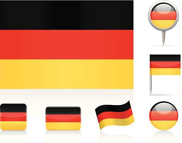 ilustraciones, imágenes clip art, dibujos animados e iconos de stock de banderas de alemania - bandera alemana