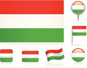 Flags of Hungary - icon set