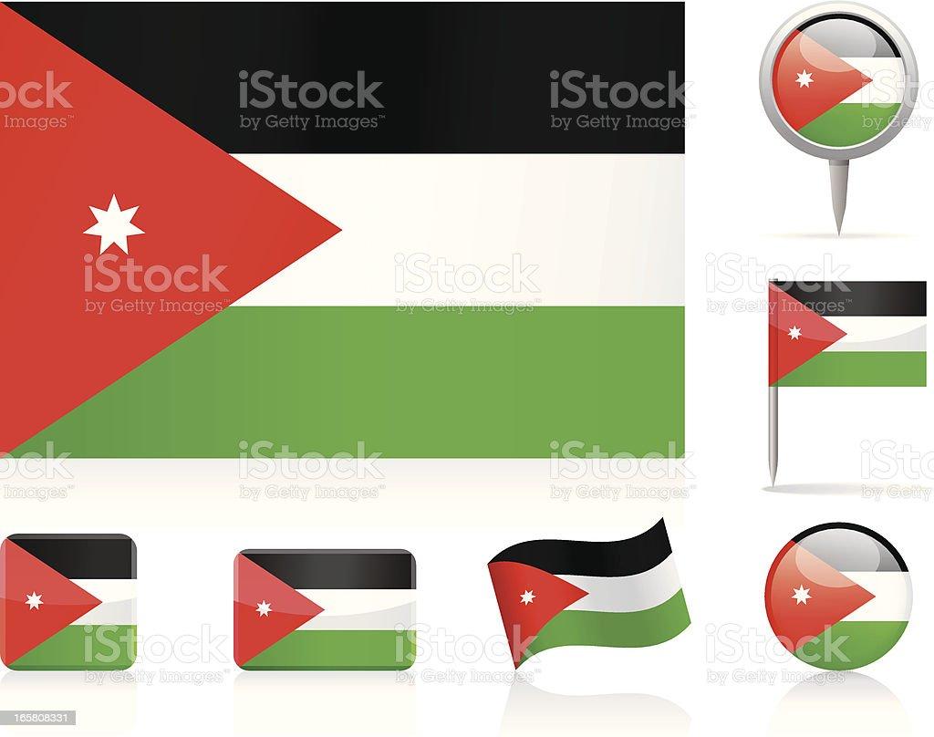 Flags of Jordan - icon set royalty-free stock vector art