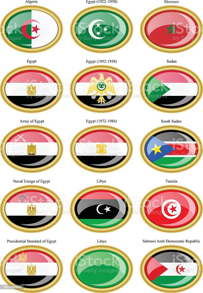 Flags of North Africa flags of north africa – cliparts vectoriels et plus d'images de afrique libre de droits
