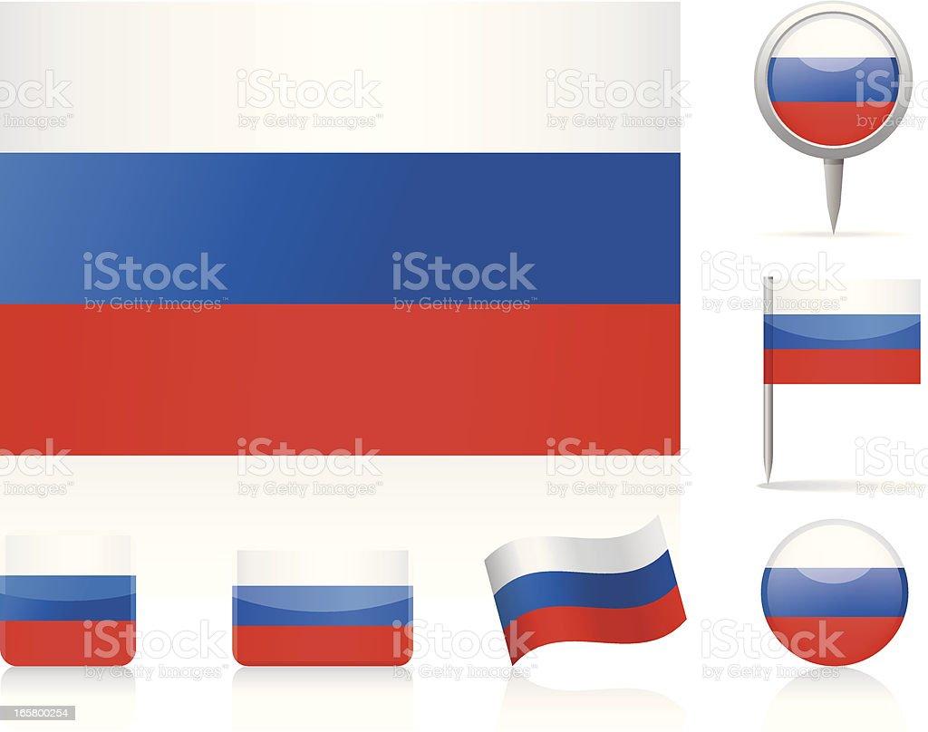 Drapeau de la Russie-icon set - Illustration vectorielle