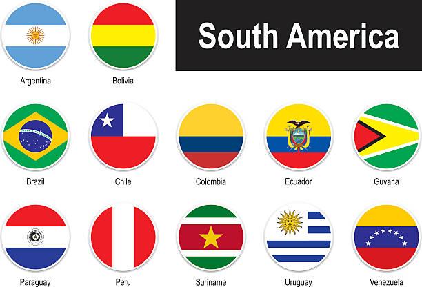 ilustraciones, imágenes clip art, dibujos animados e iconos de stock de banderas de américa del sur - bandera de argentina