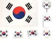 Flags of South Korea - icon set