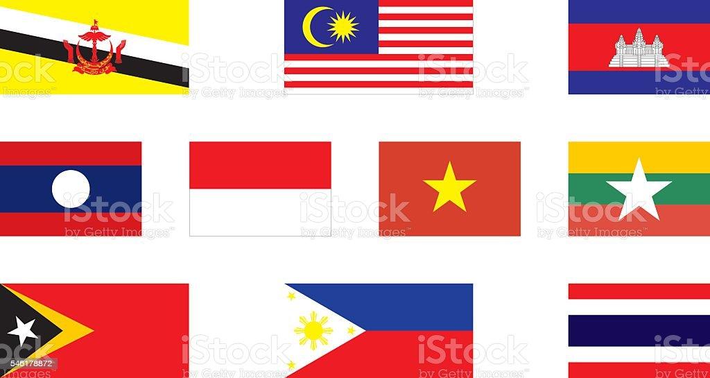 flags of Southeast Asia – Vektorgrafik
