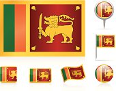 Flags of Sri Lanka - icon set