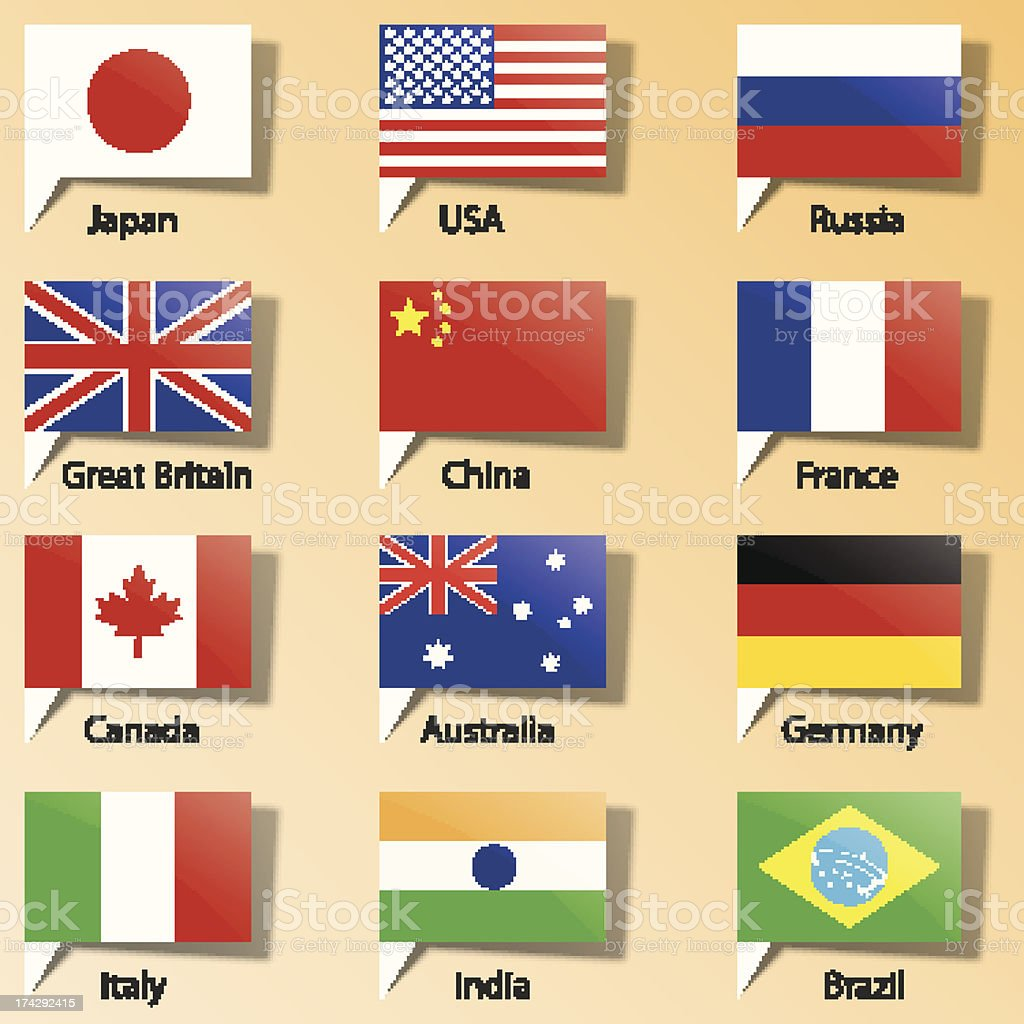 flags of States vector art illustration