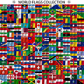 Flags of the world and  map
