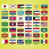 Flags of the world, collection, listed alphabetically icon