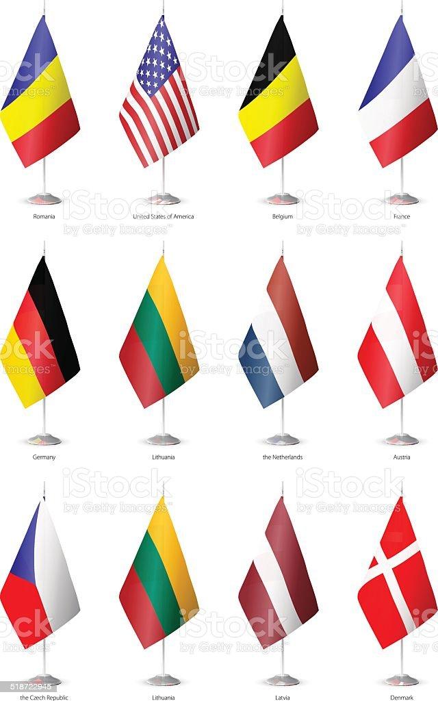 Flags of the world. vector art illustration