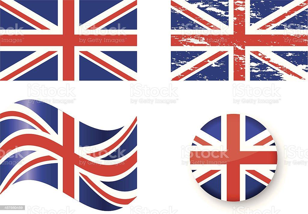 Flags of Unite Kingdom vector art illustration