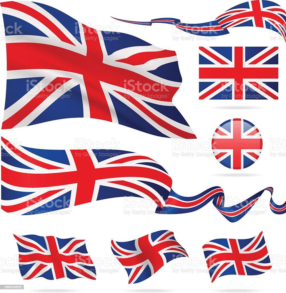 Flags of United Kingdom - icon set - Illustration