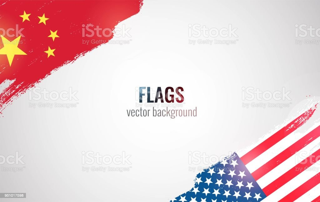 Flags Of Usa And China Stock Vector Art More Images Of Agreement