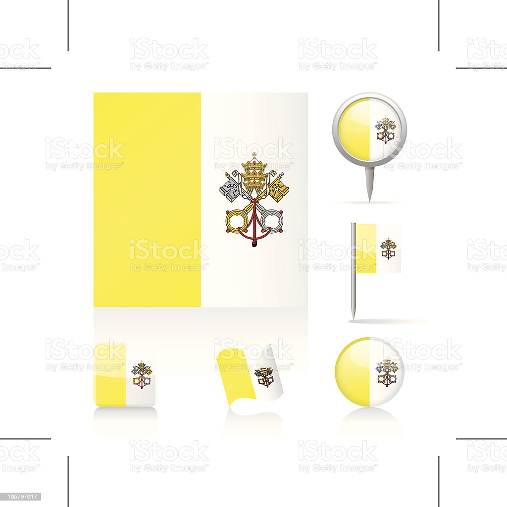 Flags of Vatican - icon set royalty-free stock vector art