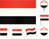 Flags of Yemen - icon set