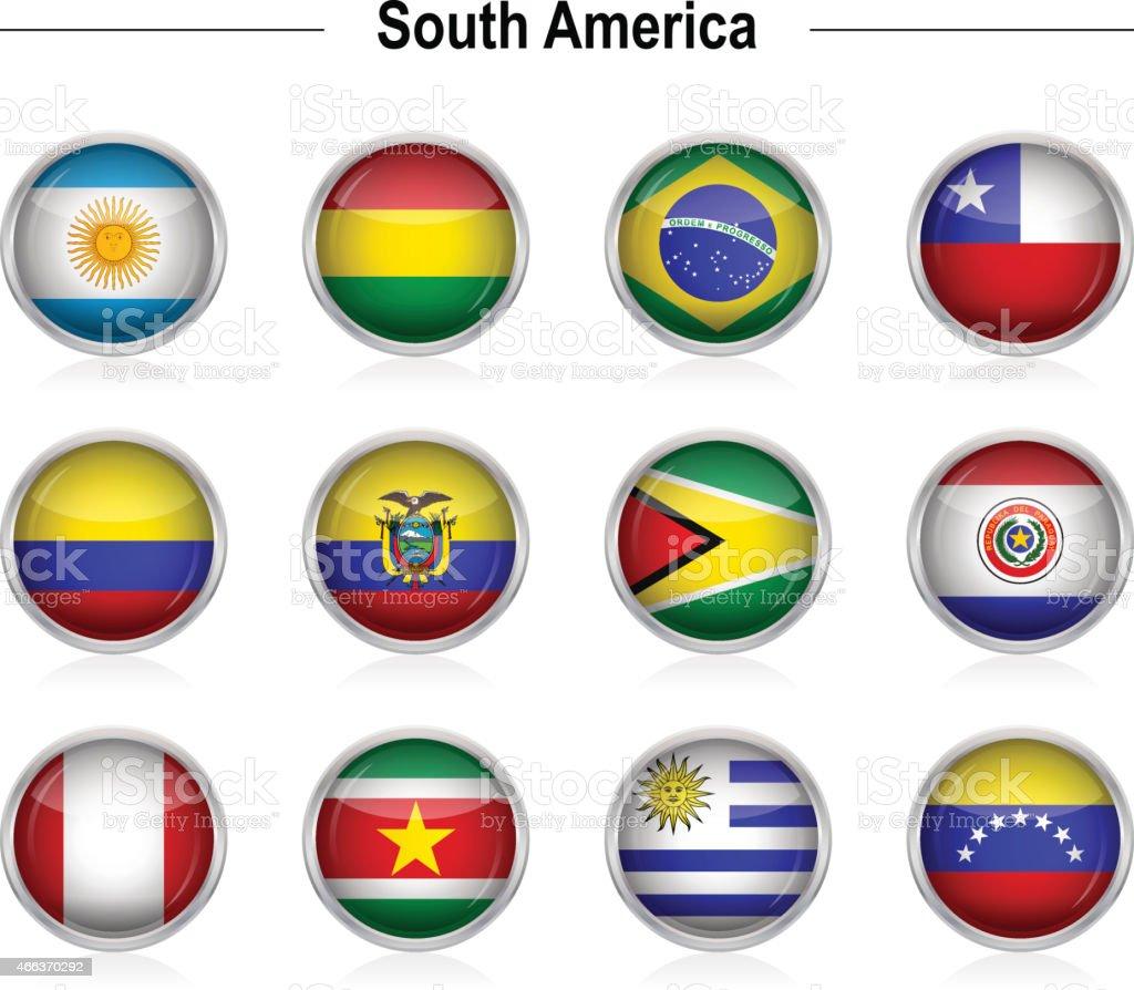 Banderas-Sudamérica - ilustración de arte vectorial