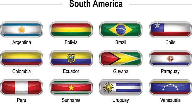 フラッグ-南アメリカ ベクターアートイラスト