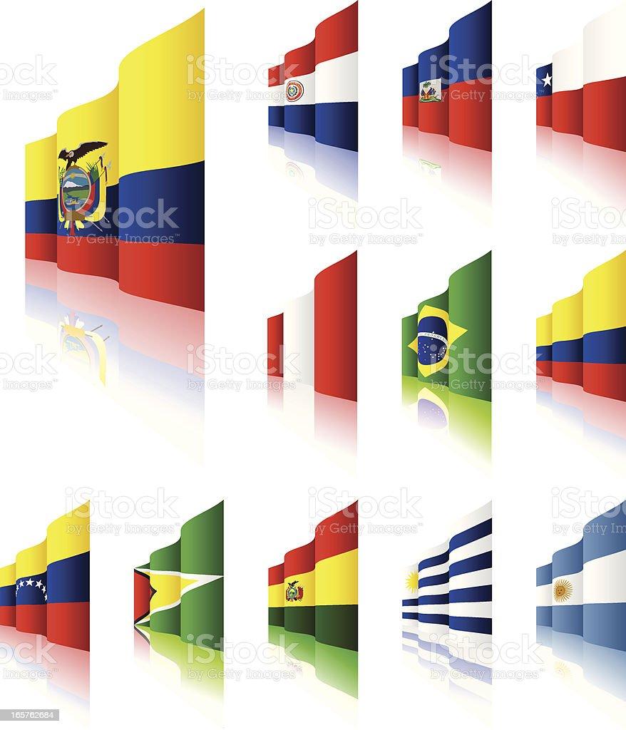 3 D Flags - ilustración de arte vectorial