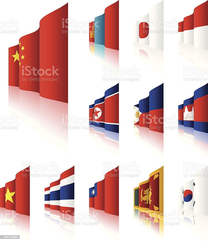 3D Flags royalty-free 3d flags stock vector art & more images of asia