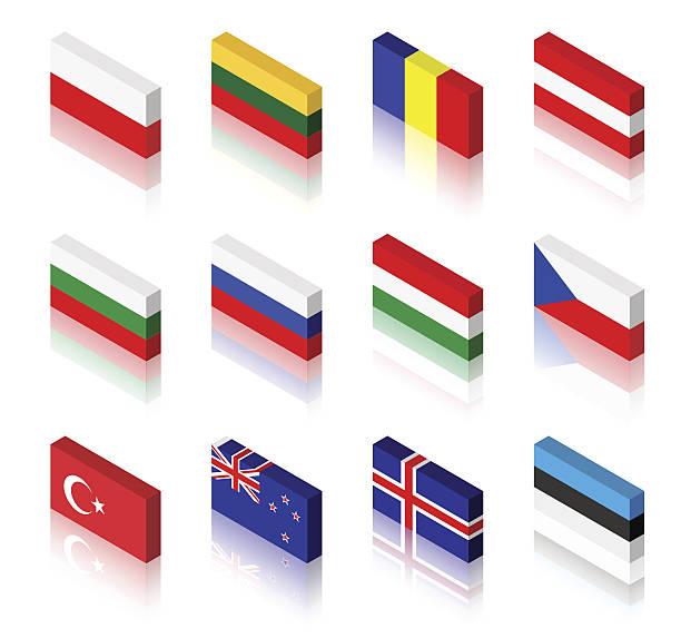 3 d flaggen - flagge polen stock-grafiken, -clipart, -cartoons und -symbole