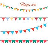 Flags vector set for your birthday design. Vector.